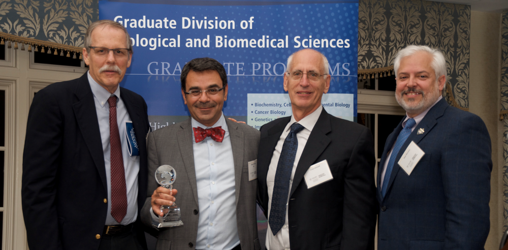 From Left:  Dr.  Steven L'Hernault   , Dr Khaled Machaca, Dr. Chris Hartzel, and Dr. Nael McCarty