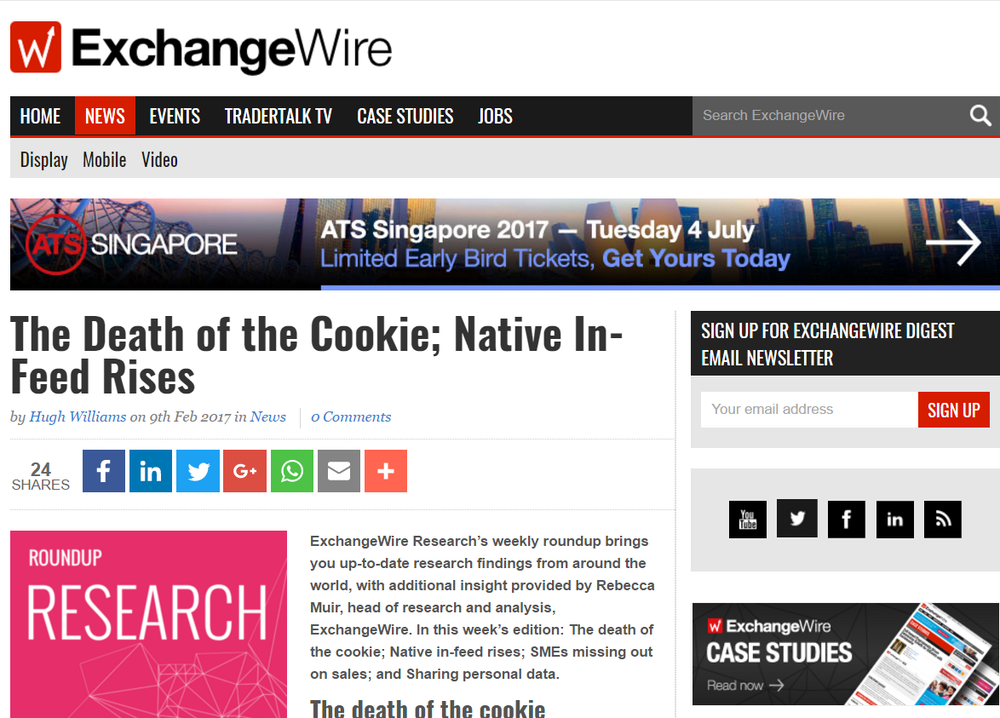 The Death of the Cookie; Native In-Feed Rises.png