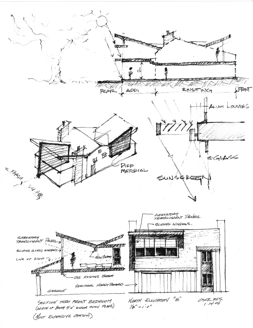 Luther Paul Weber Contemporary Addition Sketch 1