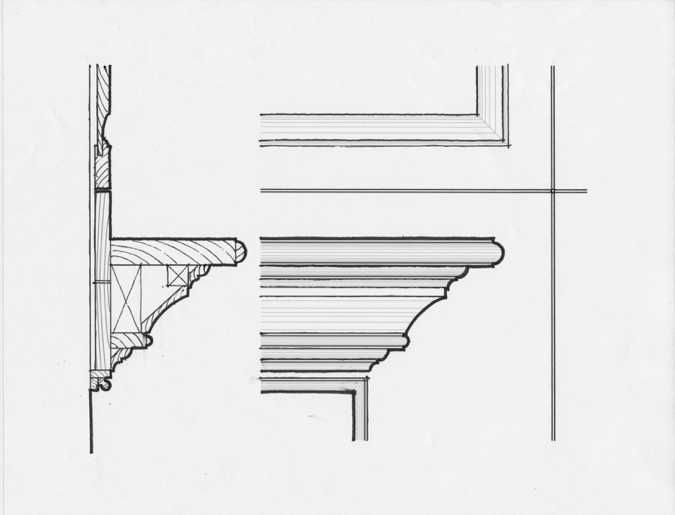 Luther Paul Weber Elegant Interior Sketch 1
