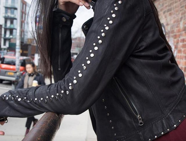 #saturdaysecrets: our leather jacket with studs is still washable!