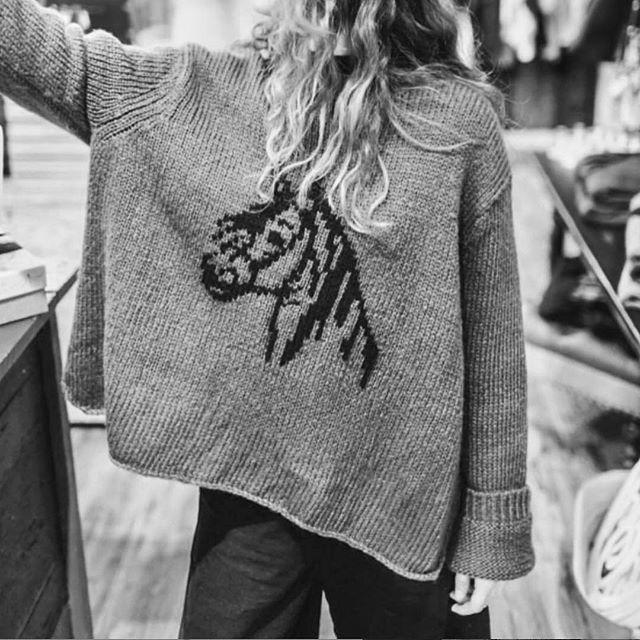 Just horsing around in our perfect knits 🐴 ♡