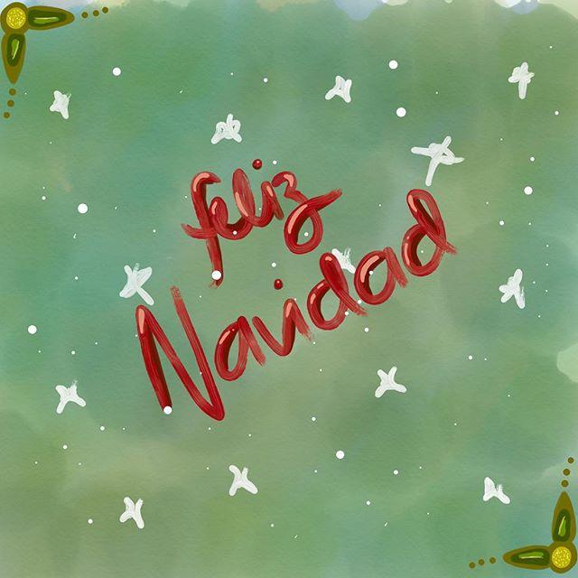 🎄F E L I Z N A V I D A D🎄 - - - #chrismtas #merrychristmas #navidad #feliznavidad #wishes #doodle #quick #artedelunapoumian #ipaddoodle #ipen #adobedraw #green