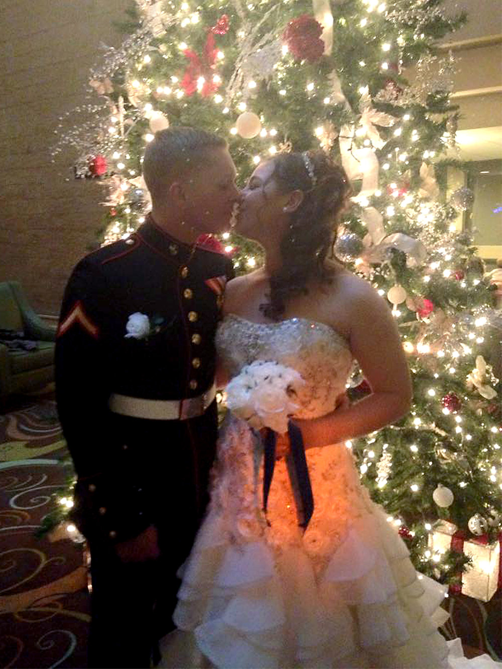 Dee Hubay and Dan Bryan get married on Tuesday, Nov. 24, 2015 after Hubay's graduation from boot camp.