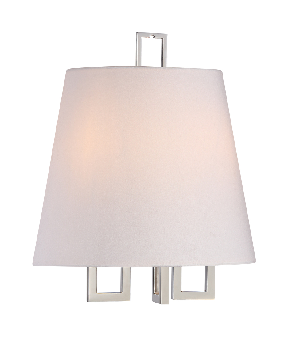 Westwood 2 Light Nickel Sconce
