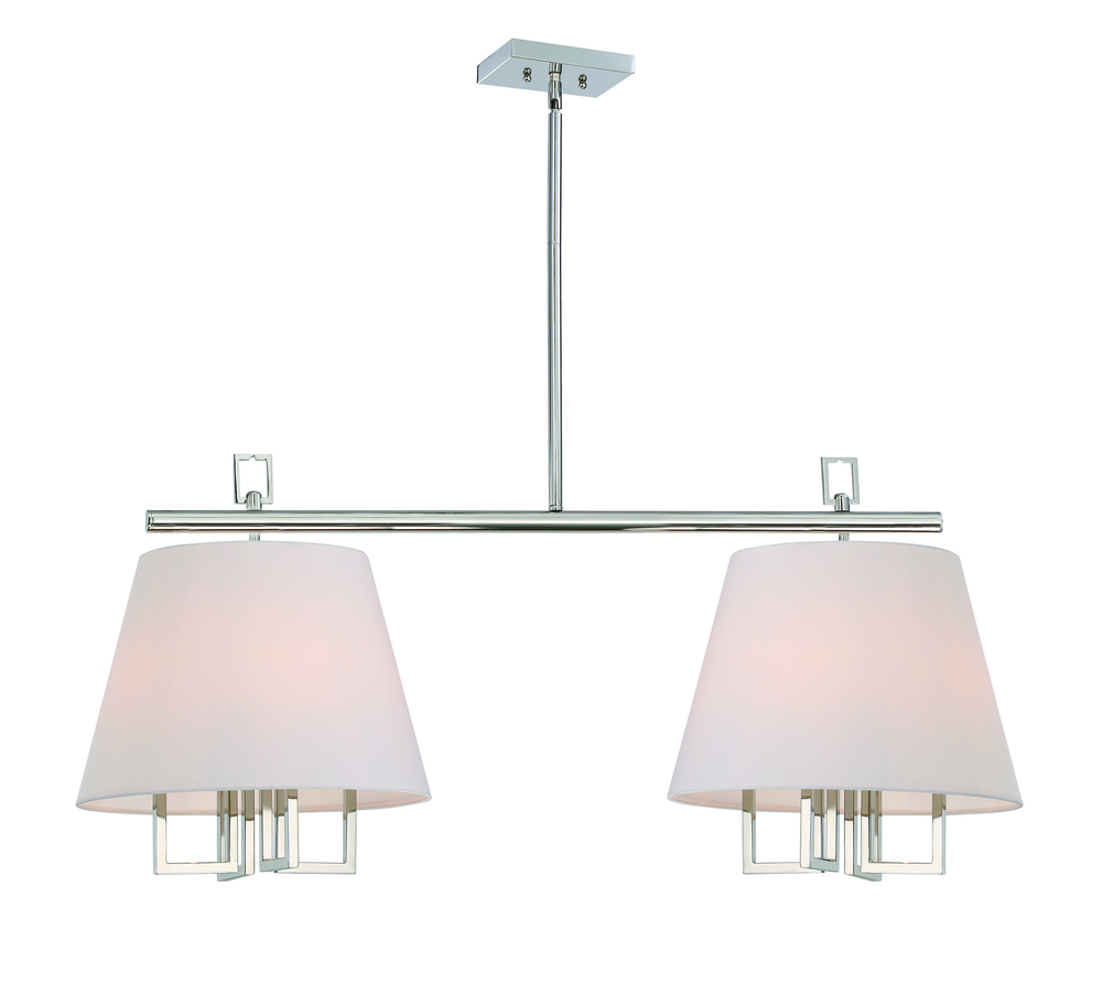Westwood 8 Light Polished Nickel Pendant