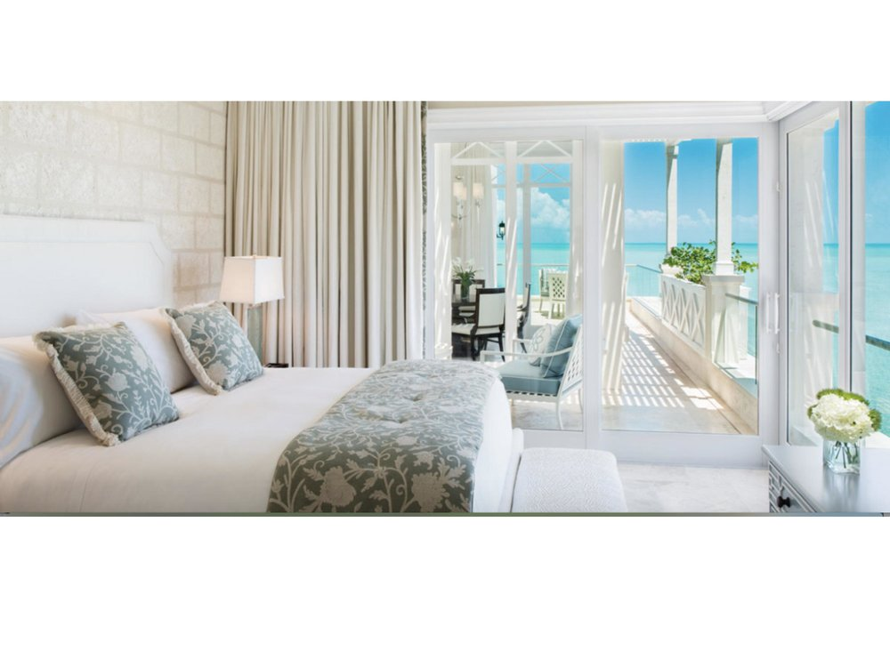 A beautiful, light, ocean-view bedroom is the perfect setting for Libby Langdon's Cooper bed.