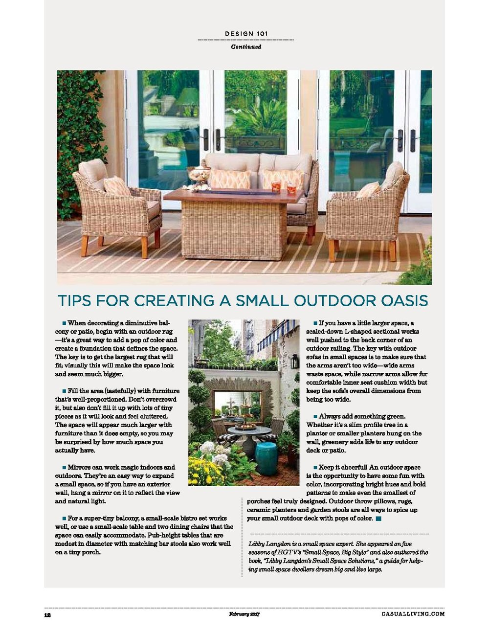 How To Build A Fabulous Outdoor Room With Less Libby Langdon