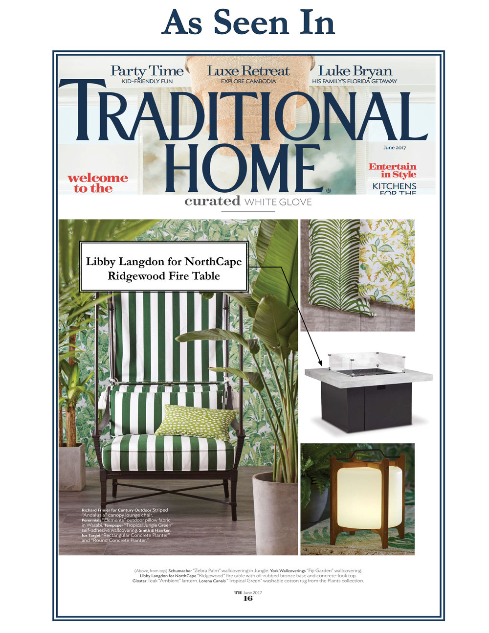 ... Magazine For Featuring My Ridgewood Fire Table From My Outdoor Furniture  Collection For NorthCape In The Current Issue!! So Much Fun To See It In  The ...