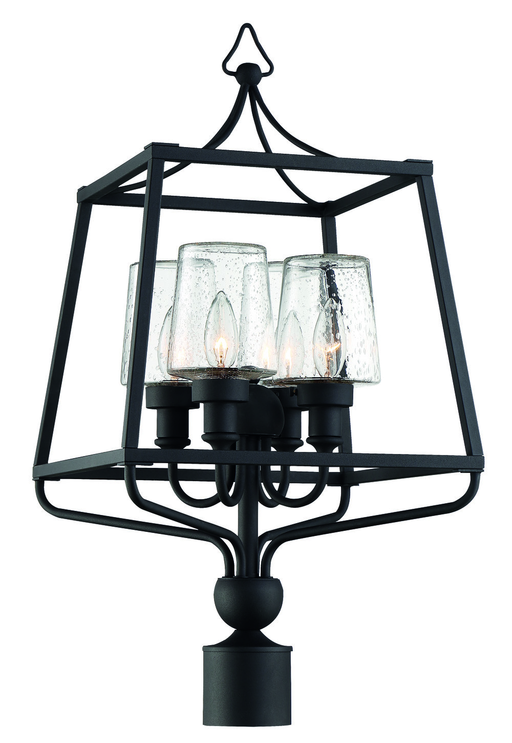 Sylvan 4 Light Black Forged Large Post
