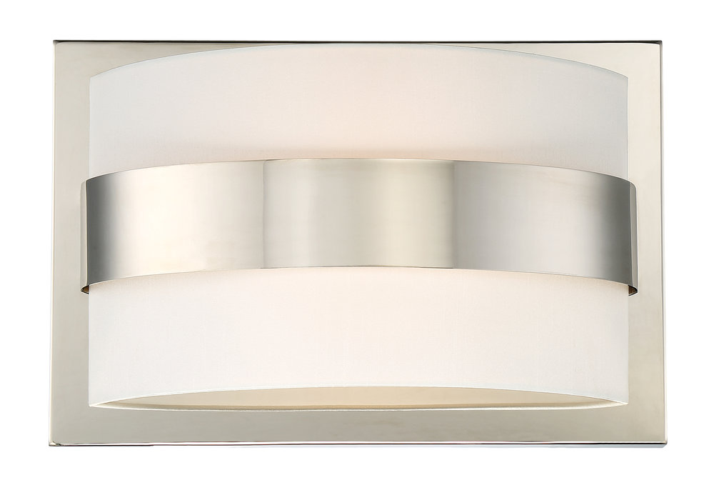 Grayson 2 Light Polished Nickel Sconce