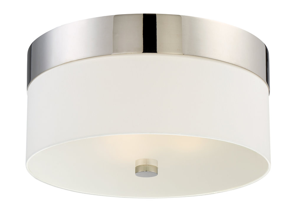 Grayson 3 Light Polished Nickel Ceiling Mount