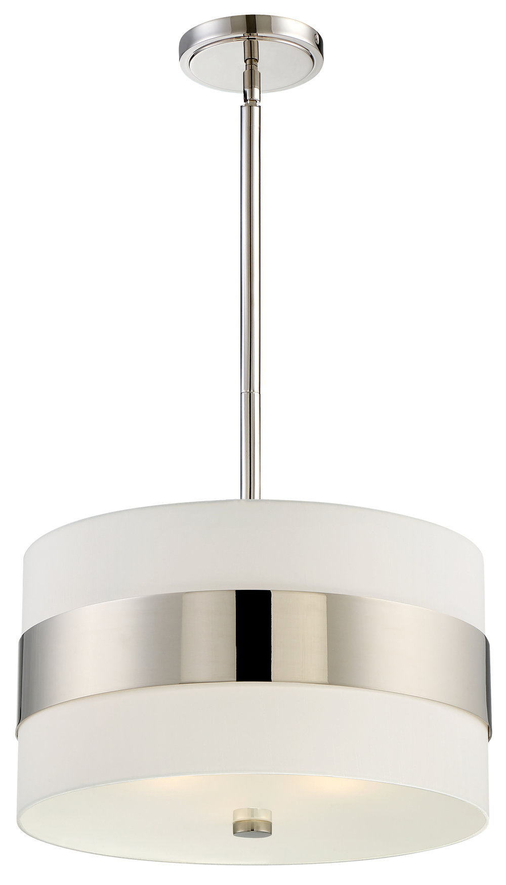 Grayson 3 Light Polished Nickel Chandelier
