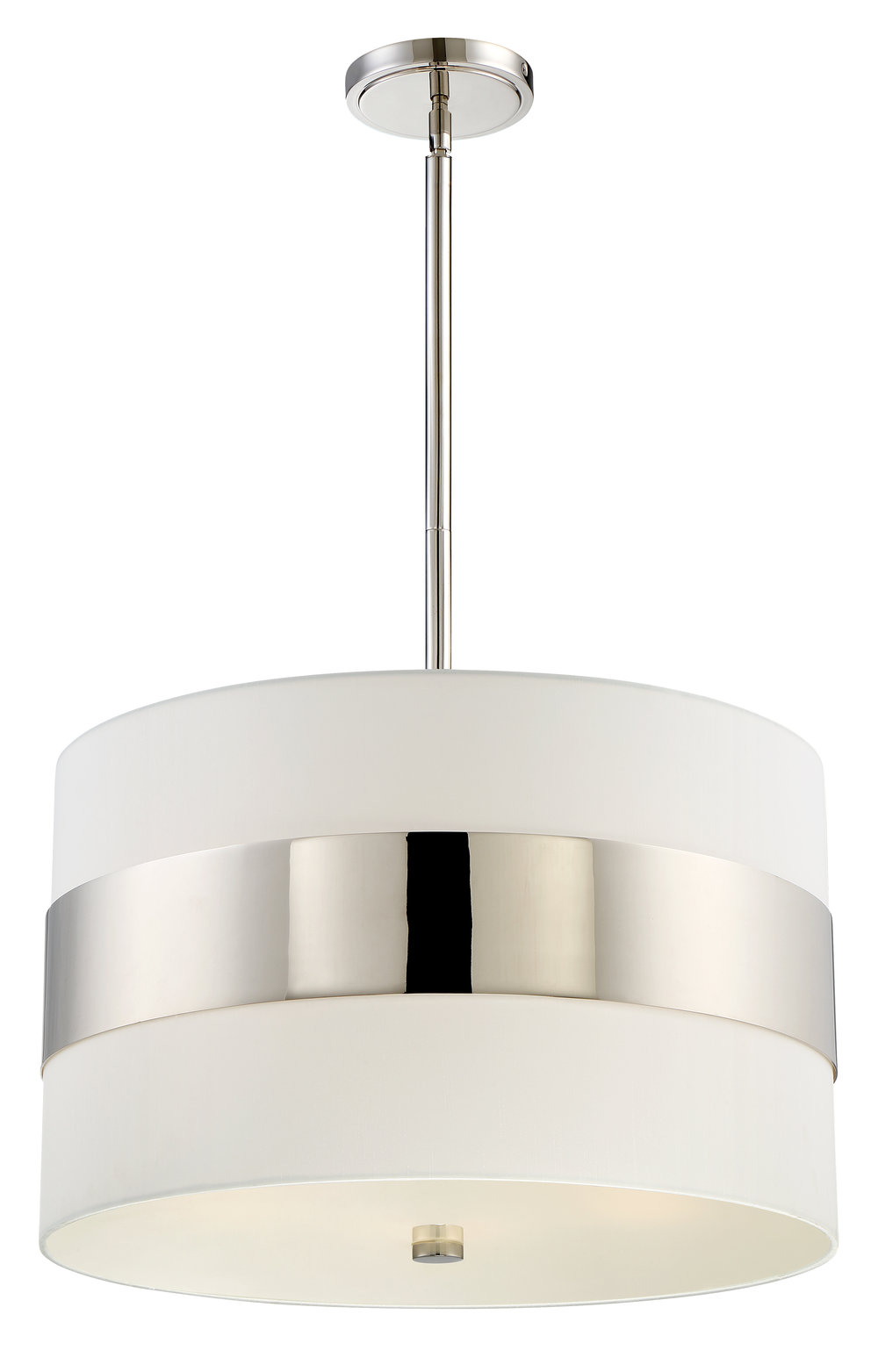 Grayson 5 Light Polished Nickel Pendant