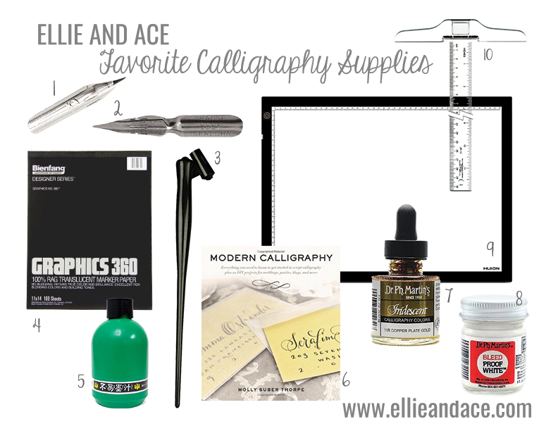 favorite calligraphy supplies