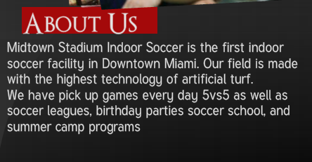 Although, to be fair, after playing on the highest technology of artificial turf, Major League Soccer might be kind of disappointing.