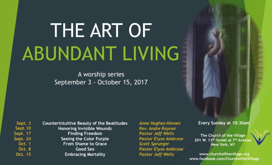 The Art of Abundant Living sermon series.jpg
