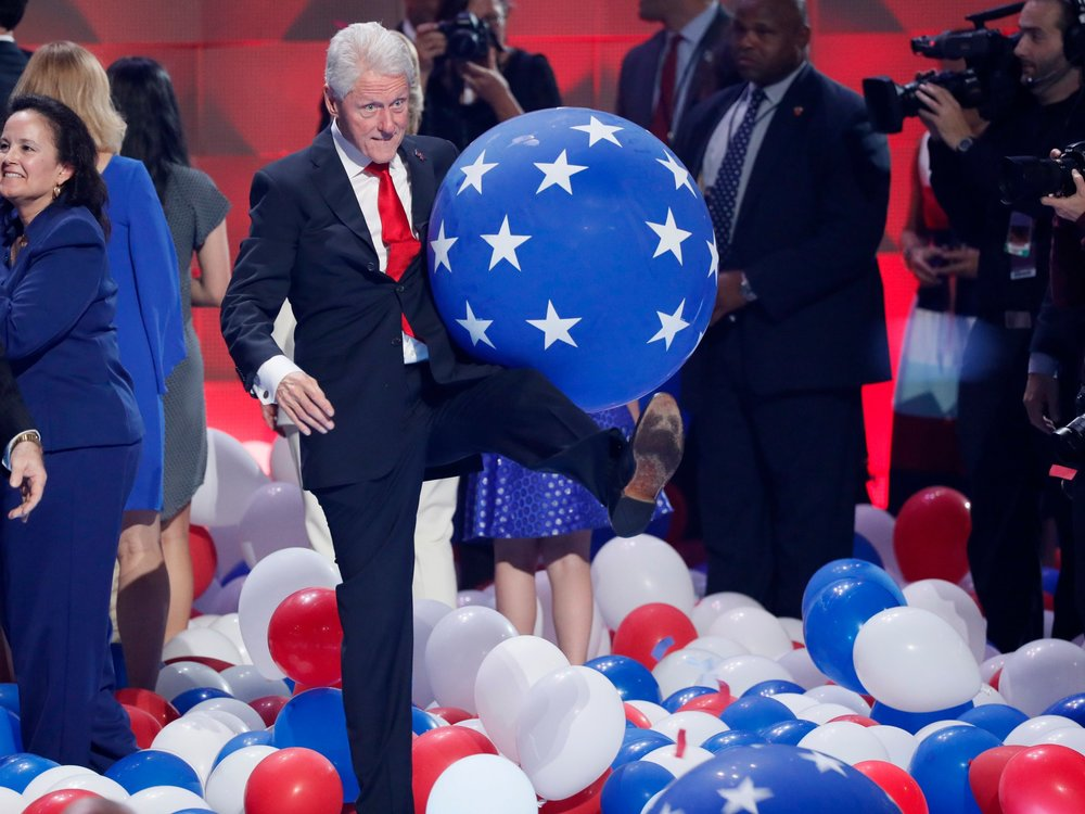 Why didn't someone give him enough balloons to play with till Election Day?!?!