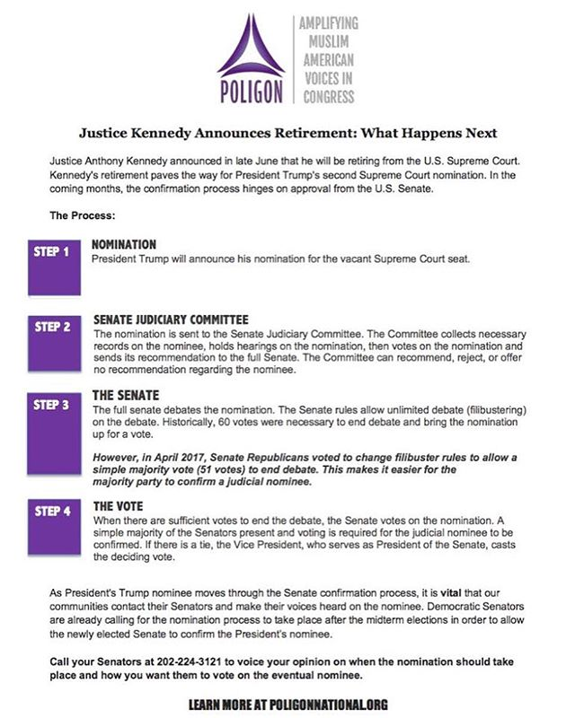 President Trump has chosen Brett Kavanaugh as his SCOTUS nominee. Now you may be wondering well what happens next or what can I do about it?  Check out @poligonnational's informative info graphic to understand how a nominee becomes a Supreme Court Justice and what you can do about it. . . . #WiseUp #podcast #blogpost  #politicalnews #politics #news #blogging #blog #voting #vote #america #atx #austin #potd #podcasting #election #desi #southasian #hindu #sikh #muslim #texas #txlege #scotus