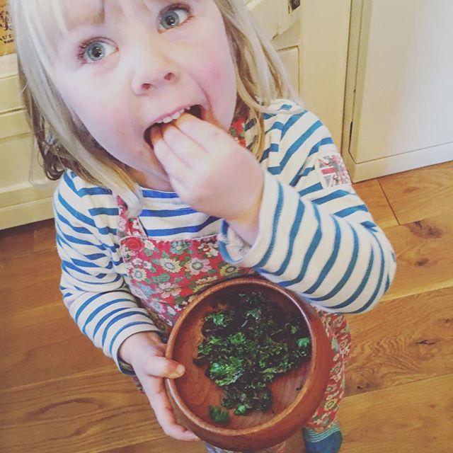 Matilda loves KALE crisps