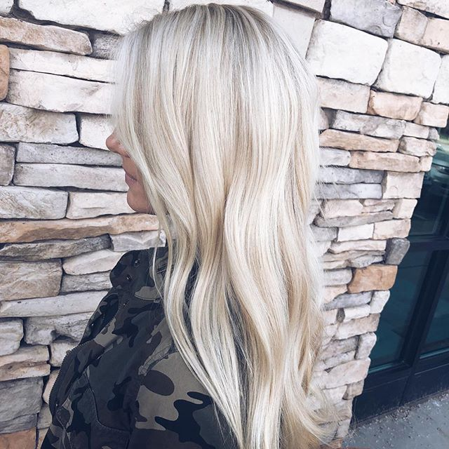 The brighter the blonde, the better. 💛 Hair by @katylillly. #aristagirl #blondehair #kchairstylist