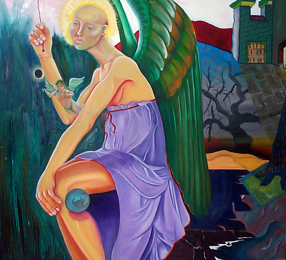 Waisted Time, From Where Angels Meet, A painting exhibition presented in Chicago, Cafe Penelope.