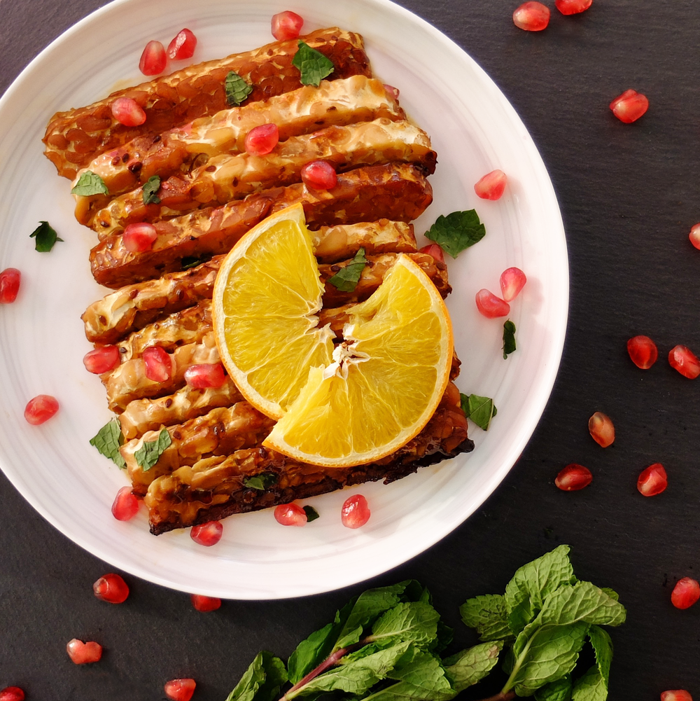 Roasted Tempeh - with Citrus and Beer Marinade