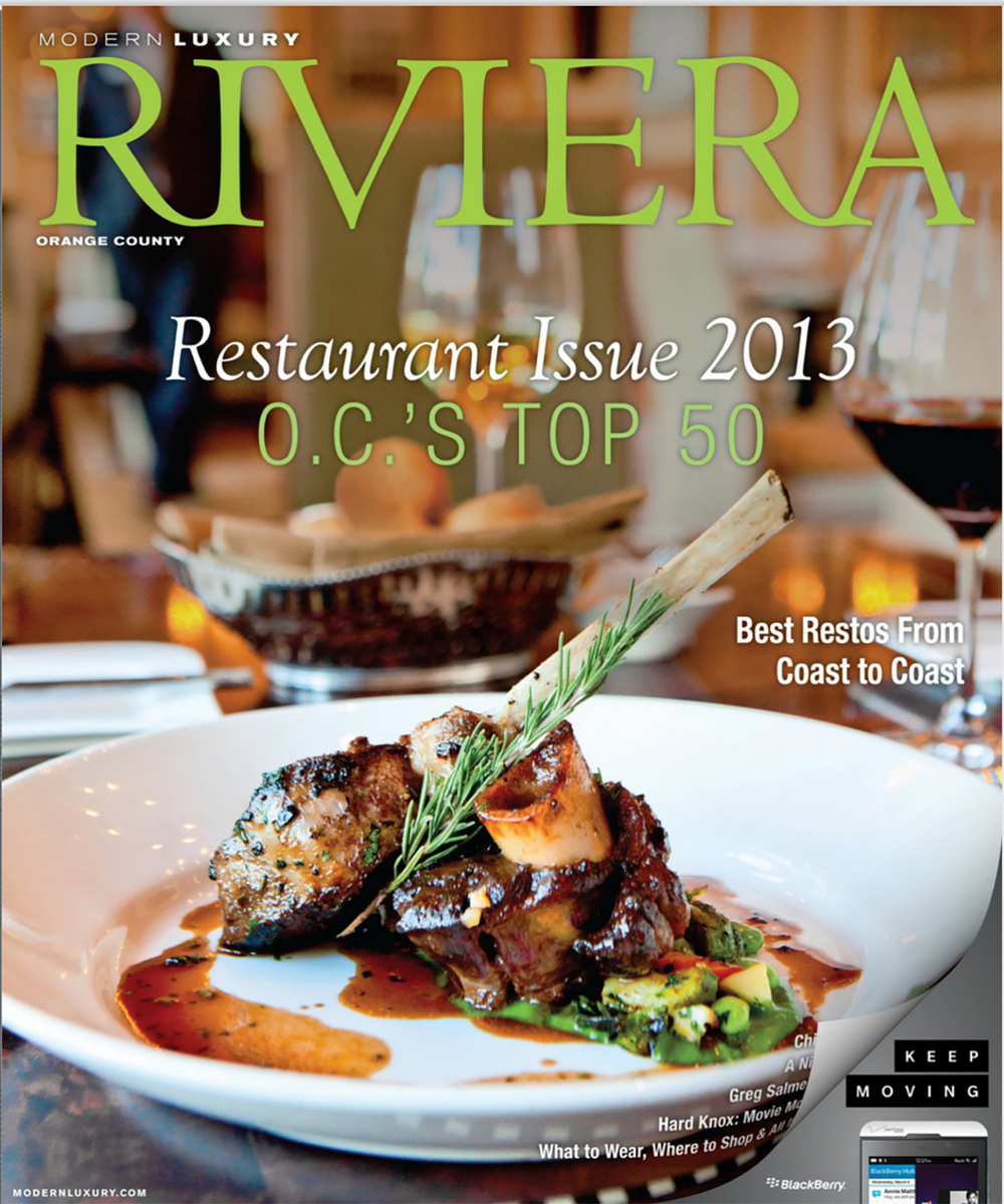 Cover, Riviera Magazine
