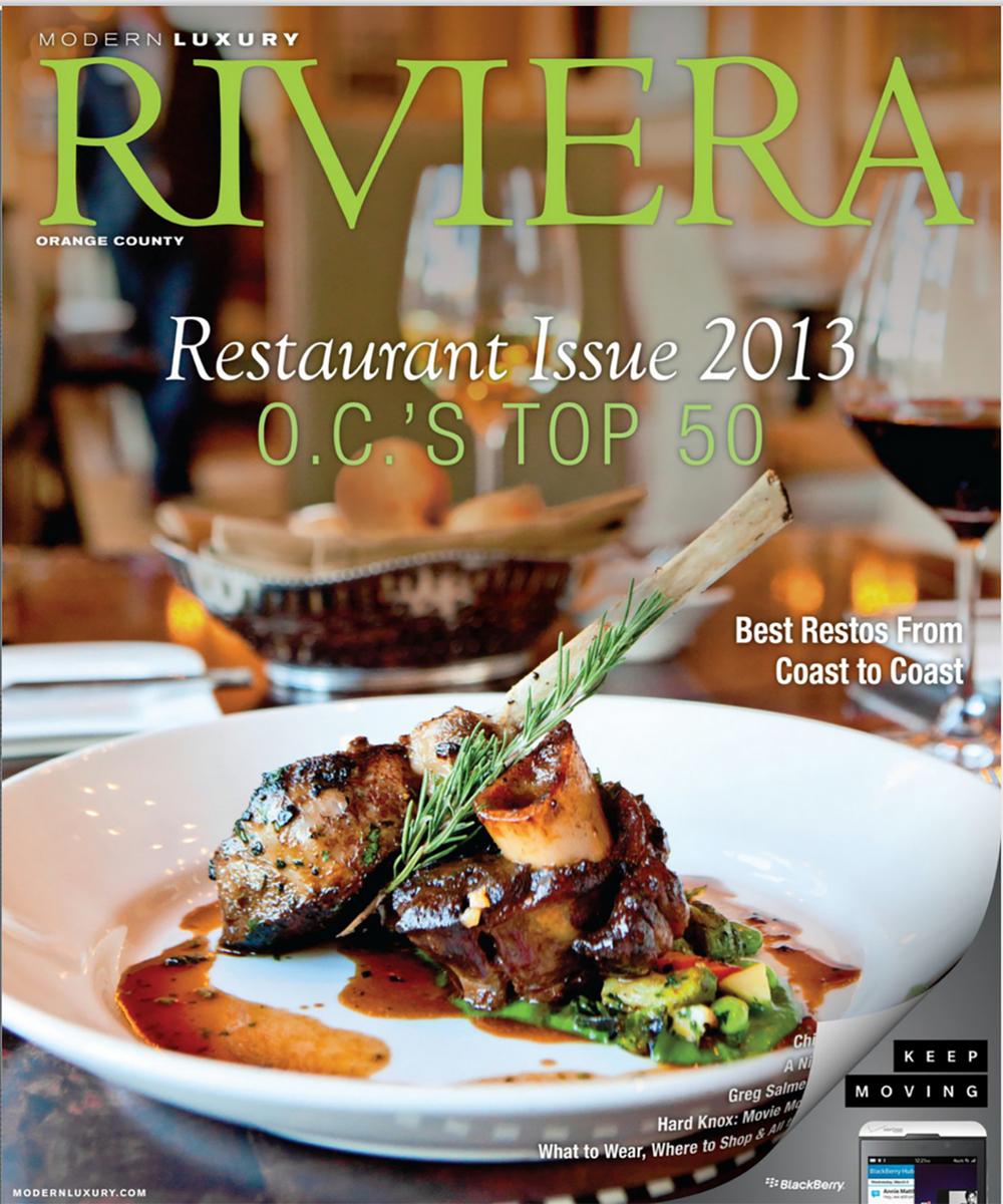 Cover, Riviera Magazine
