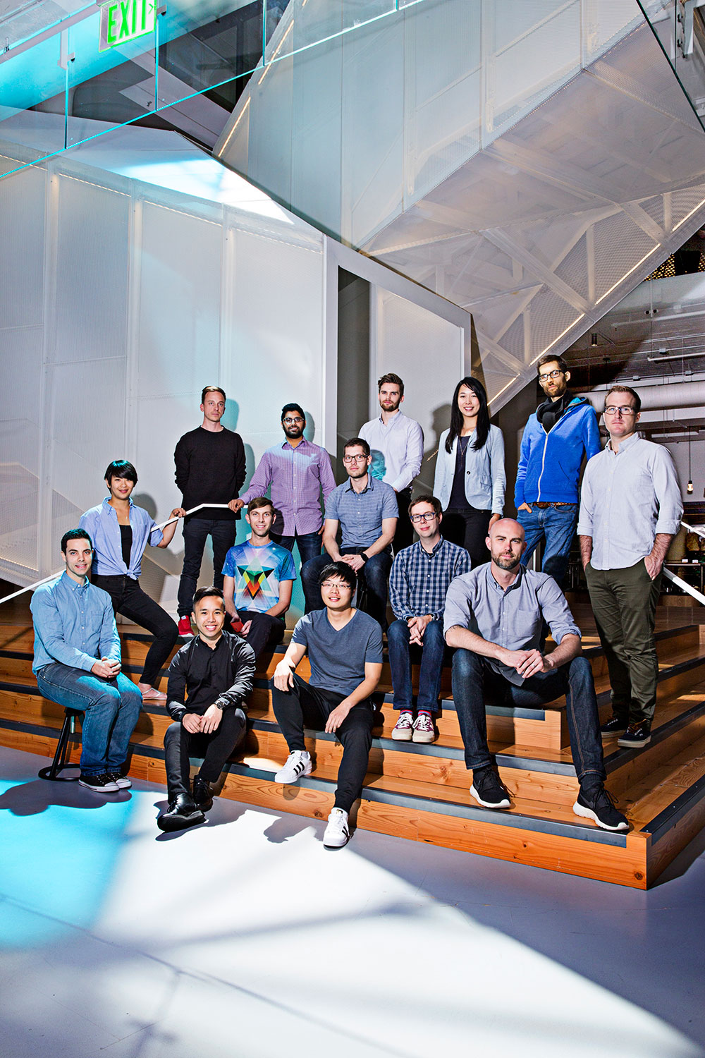 Members of the engineering, product and design teams at Pinterest.