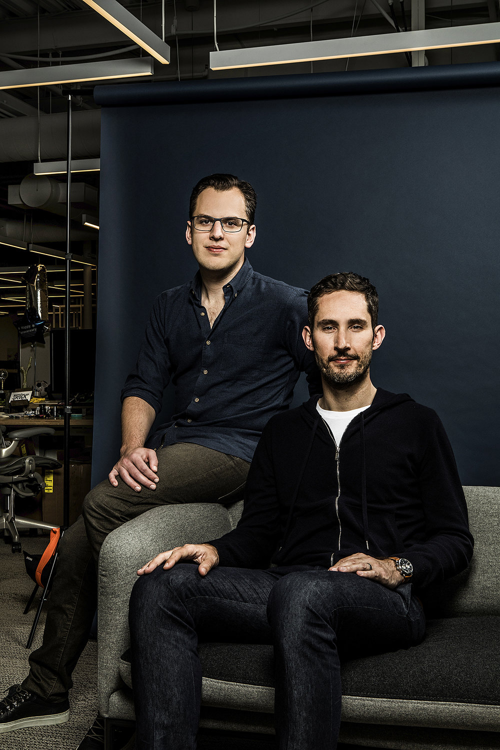 Instagram founders, Kevin Systrom and Mike Krieger for The New York Times.