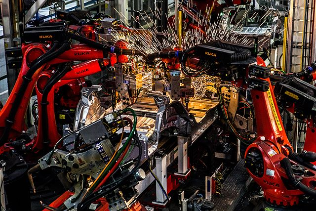 Model 3 production @teslamotors for @nytimes