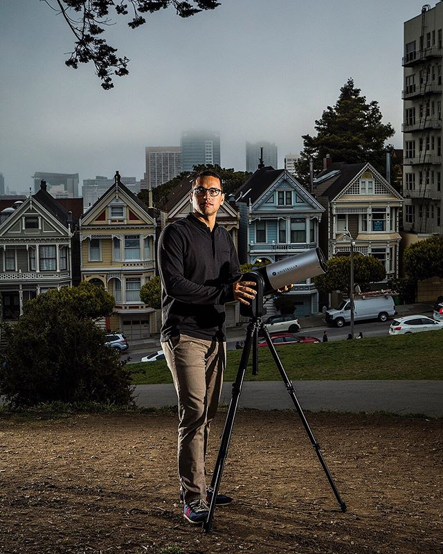 Franck Marchis of the SETI Institute and his telescope for @popsci @popsciartdept. Thank you @thompaynenyc for the assignment and @cayceclifford and @moha for enduring the ridiculous rain and wind to make this shoot happen 😂😘