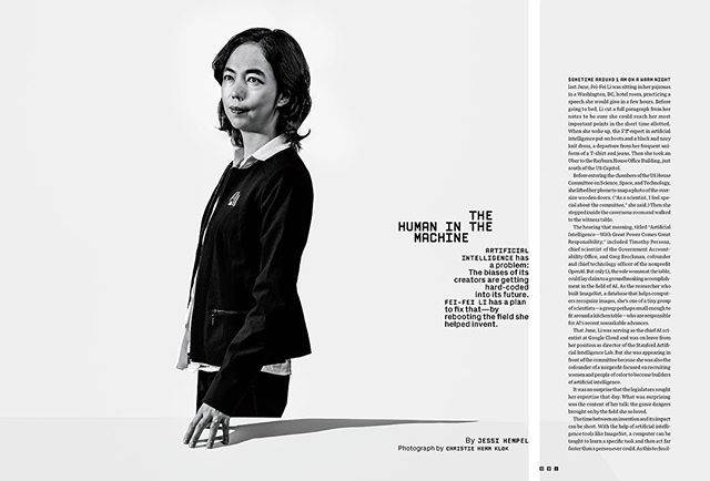 Fei-Fei Li for @wired 🖤 thank you @amy_silverman and @annagoldwater for the assignment and support 🖤