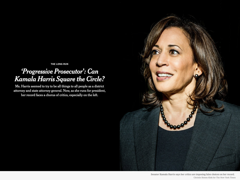 Kamala Harris for The New York Times