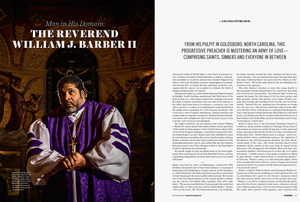 Reverend Barber for Playboy