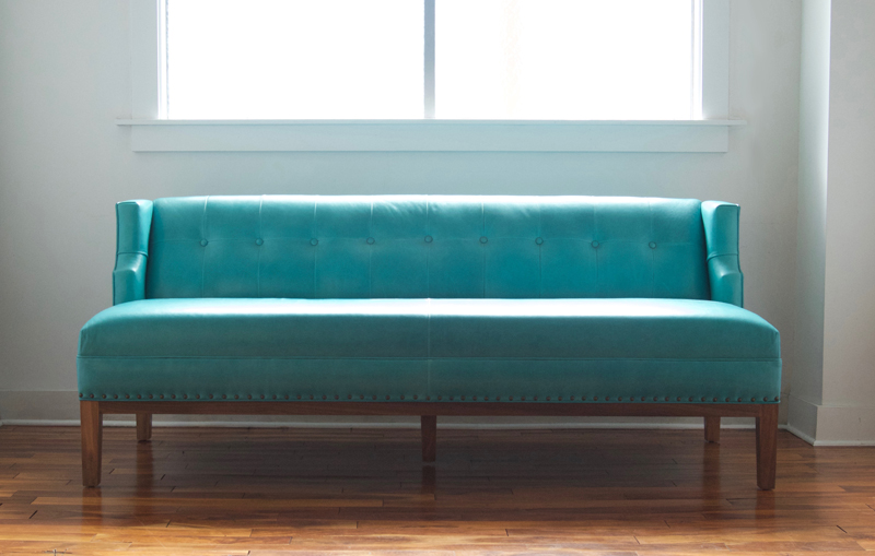 Custom Banquette | Leather
