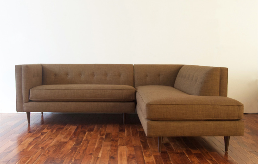 The Aimee Sectional | Bumper Ottoman