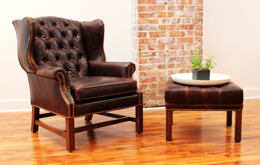 The Cromwell Chair and Ottoman | Leather