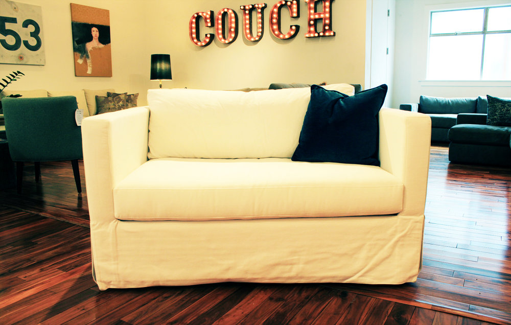 The Hampton Loveseat | Slipcovered