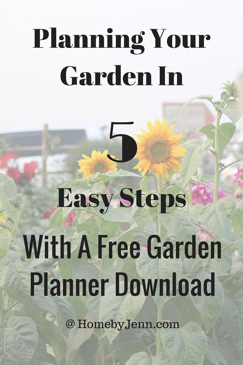 Planning Your Vegetable Garden In 5 Easy Steps Home by Jenn