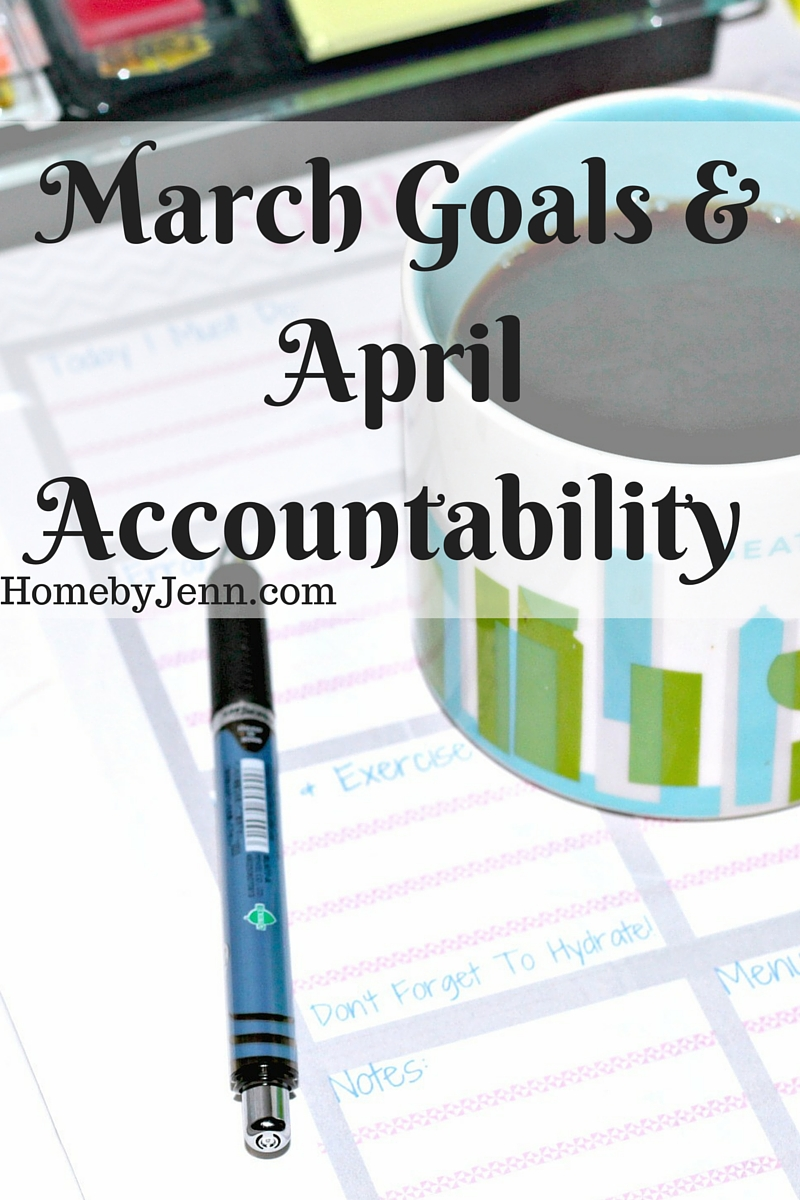 A run down of my goals from the month of March and I lay out my April goals for a little accountability.
