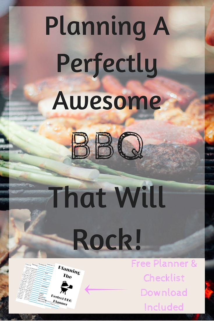 Planning a perfectly awesome BBQ that will rock with a free planner and checklist.  This will take the guess work out of planning the next BBQ