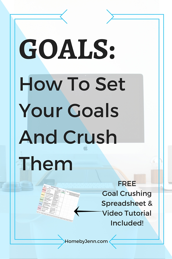 This post has step by step instruction on how to set up some amazing goals. Not only will you learn how to set these awesome goals up but you'll learn exactly what it takes to follow through with them. By the end you'll know exactly how to crush any awesome goal. This also includes a FREE goals spreadsheet and video tutorial. So click through to learn how to start making and crushing those amazing goals of yours!