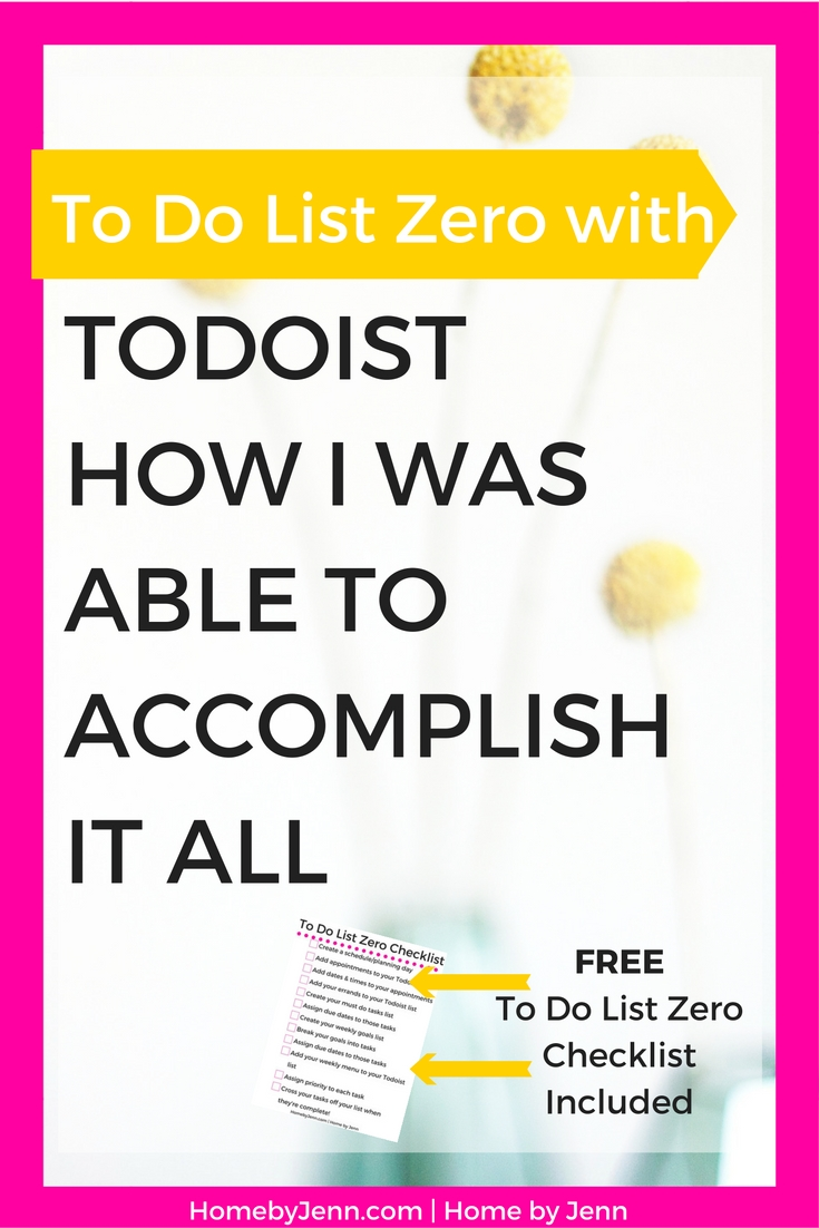 Zero out your to do list every single day using this awesome tool.  This post will show you exactly what it takes to complete your to do list every single day.  Click through to find out how!