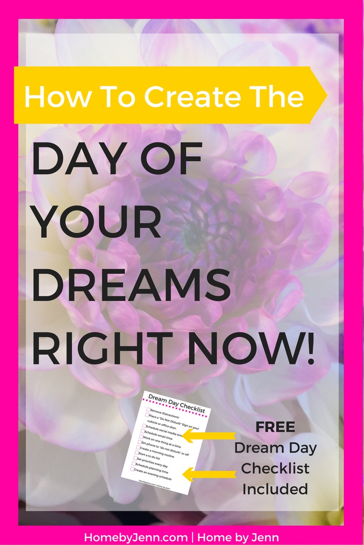 Learn how to quickly and easily live the day of your dreams. This so simple to implement that you will be able to start today. This post also includes a checklist so you can create the day of your dreams everyday. Take action now, click through and find out how you can have the day of your dreams right now.