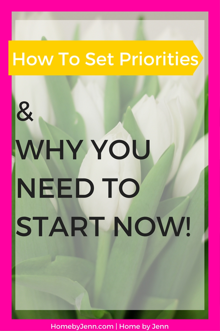 The step by step process of successfully creating priorities in your life. What you need to know to create priorities.