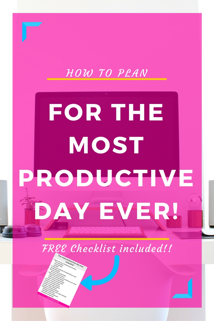 It can be so hard to run your day successfully without distractions or just time getting away from you. This post goes in-depth into what exact steps need to be taken to have the most productive day ever. These are quite simple things you can implement now! Also, there is a have the most productive day ever free checklist included. Take action now! Click through to not just have the most productive day ever, the most productive DAYS ever!