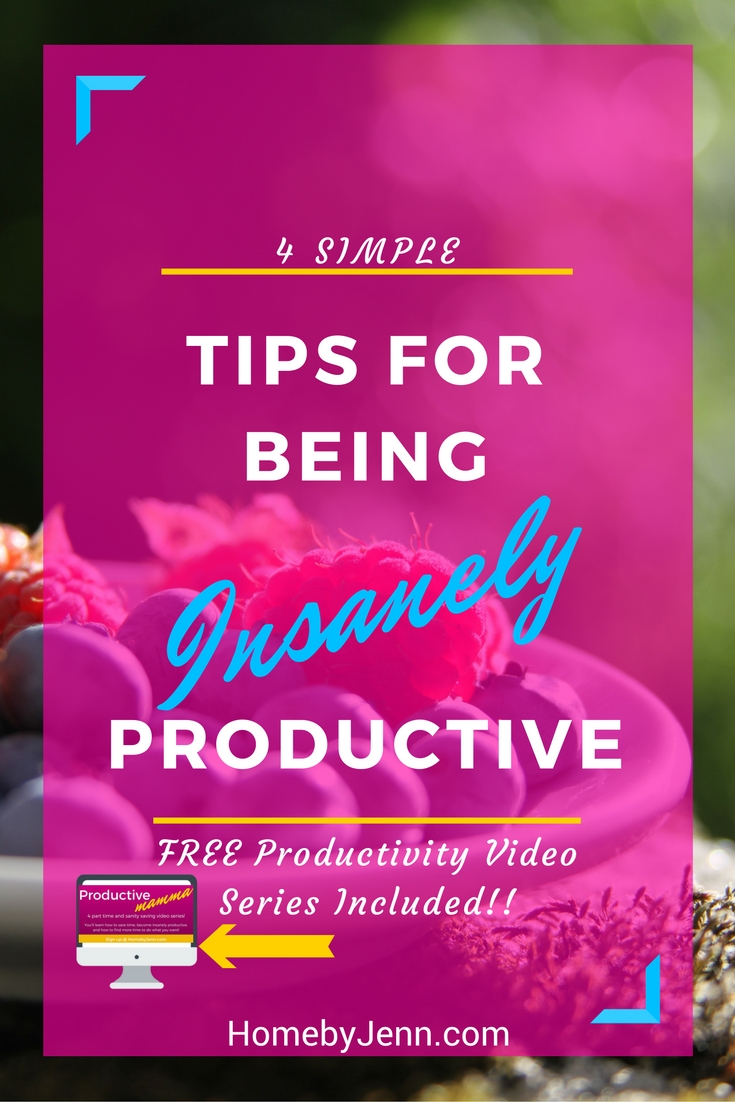 4 tips for being insanely productive. Stop wishing you were getting things done and finally get more done. You'll learn 4 very simple strategies you can implement today to become insanely productive.