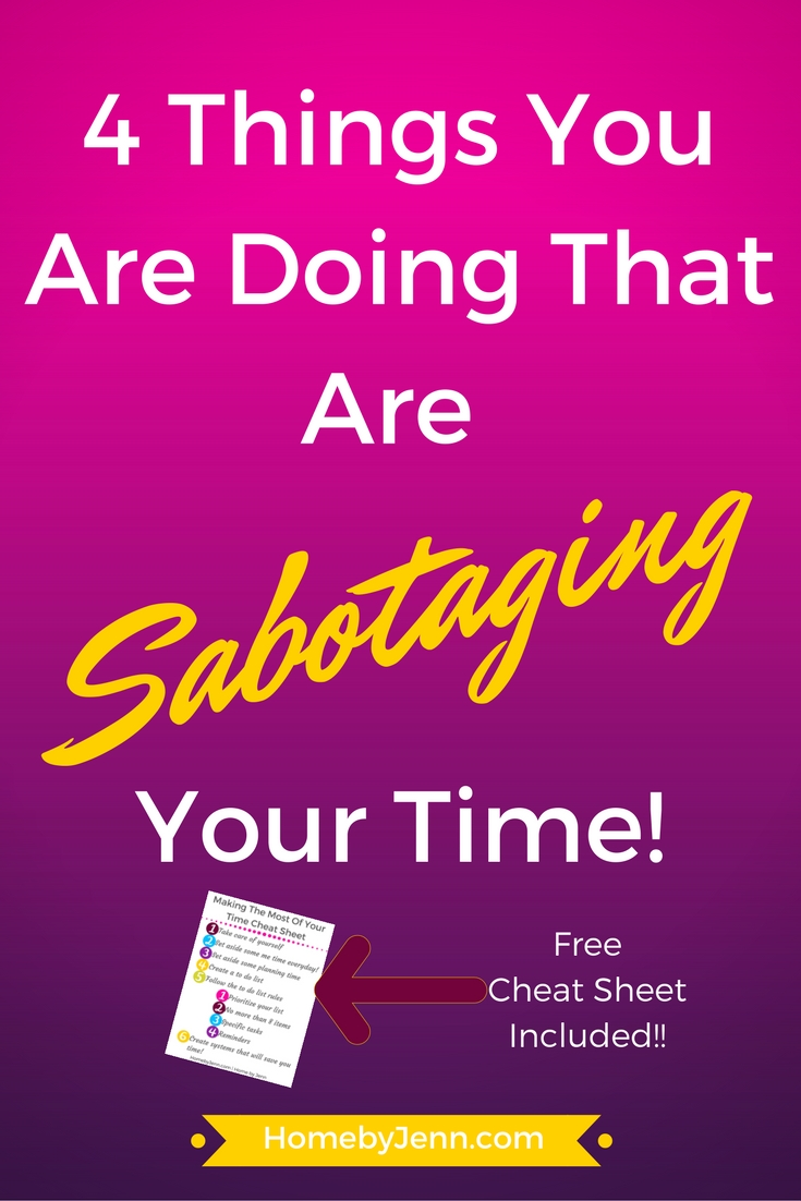 4 things that will save you time. What they are and how you can fix it today.